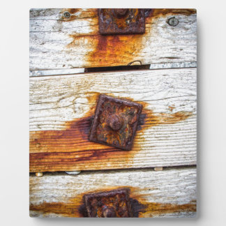 Rust on Wood Plaque