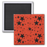 Rust Red and Black Stars pattern