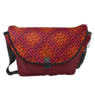 Rust Red Barbed Wire Barb Fencing Orange Courier Bag