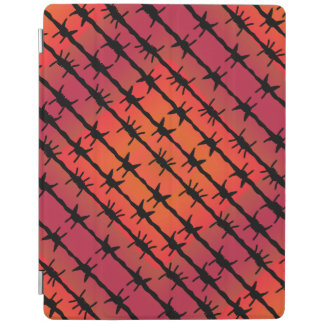 Rust Red Barbed Wire Barb Fencing Orange iPad Cover