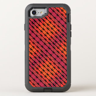Rust Red Barbed Wire Barb Fencing Orange OtterBox Defender iPhone 7 Case
