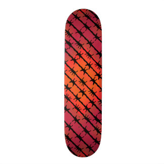Rust Red Barbed Wire Barb Fencing Orange Skateboards