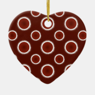 Rust Red Eclipses Christmas Ornament