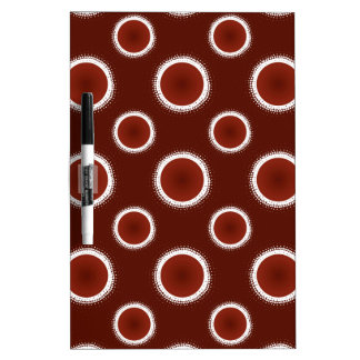 Rust Red Eclipses Dry Erase Board