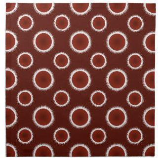 Rust Red Eclipses Napkin