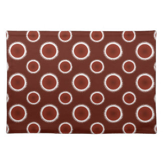 Rust Red Eclipses Placemat