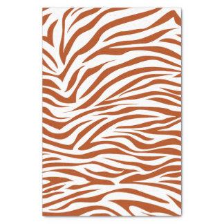 Rust Red Safari Zebra Tissue Paper
