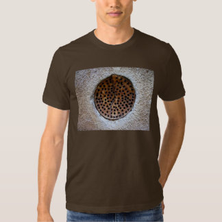 Rust round grid t-shirt