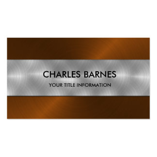 Rust Stainless Steel Business Card