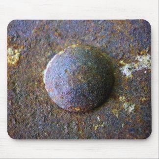 Rust Steel Rivet Industrial Distressed Mouse Mat