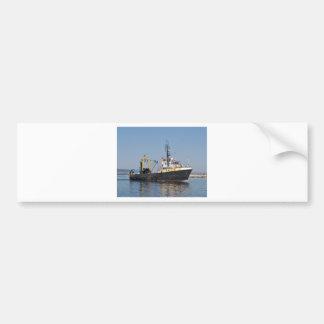 Rust Streaked Fishing Boat Bumper Sticker