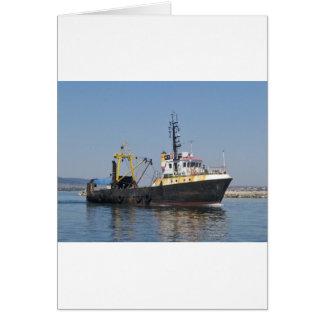 Rust Streaked Fishing Boat Card