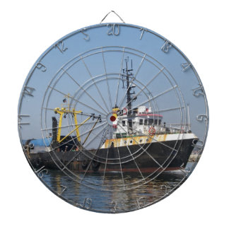 Rust Streaked Fishing Boat Dartboard