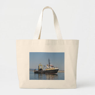 Rust Streaked Fishing Boat Large Tote Bag