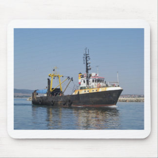 Rust Streaked Fishing Boat Mouse Pad