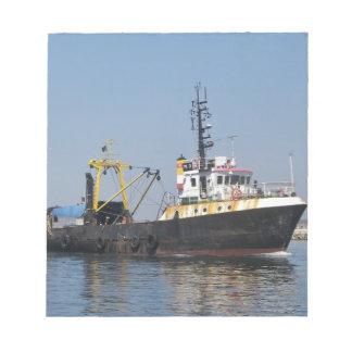 Rust Streaked Fishing Boat Notepad