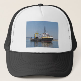 Rust Streaked Fishing Boat Trucker Hat