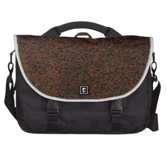 Rust Texture Base Layer Customizable Laptop Commuter Bag
