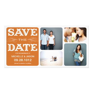 RUST VINTAGE COLLAGE | SAVE THE DATE ANNOUNCEMENT CARD