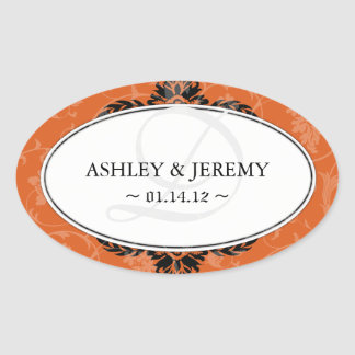 Rust Wedding Favor Stickers