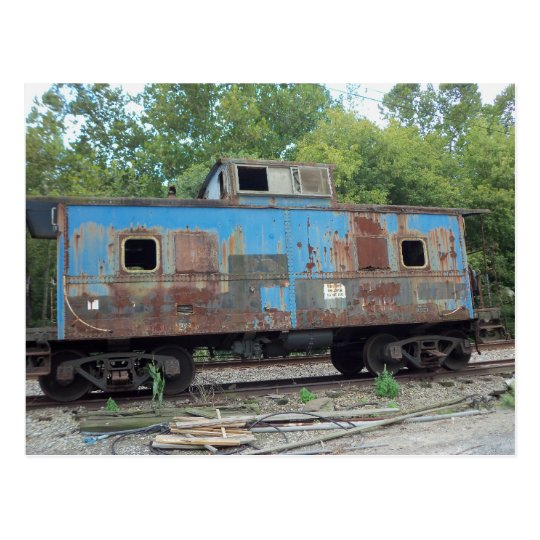 Rusted Caboose Postcard