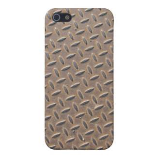 Rusted checker plate made from steel or metal iPhone 5/5S cover