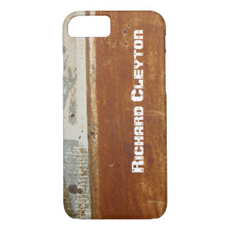 Rusted corroded metal, texture custom iPhone 7 case