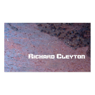 Rusted, corroded metal, texture custom pack of standard business cards