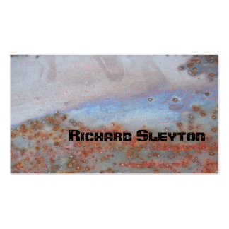 Rusted corroded metal, texture custom pack of standard business cards