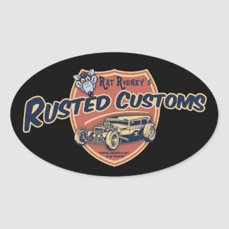 Rusted Customs II Oval Sticker