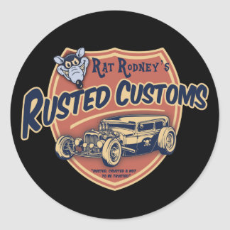 Rusted Customs II Round Sticker