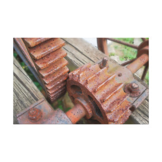 Rusted Gears Canvas Print