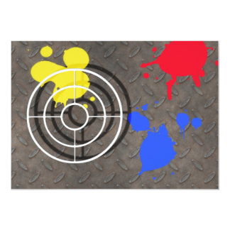 Rusted Grate with Gun Sight 13 Cm X 18 Cm Invitation Card