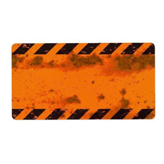 Rusted Hazard Stripes Background