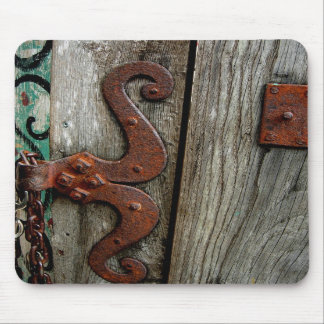 Rusted Hinge Wood Grain Mousepad Photograph Art