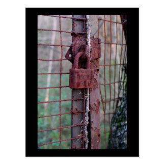 Rusted Lock Postcard