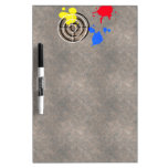 Rusted Metal Grate with Paintball Gunsight Dry Erase White Board