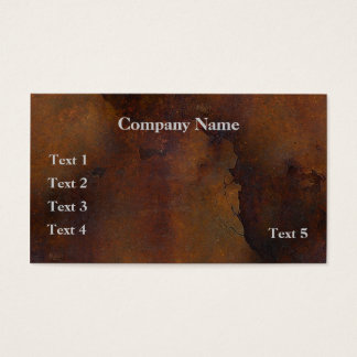 Rusted Metal Look Business Card