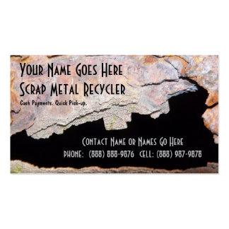 Rusted Metal Pipe Metal Work or Scrap Recycling Pack Of Standard Business Cards