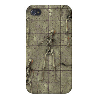 Rusted Metal With Skeletons iPhone 4/4S Cases