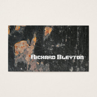 Rusted painted, corroded metal, texture custom business card