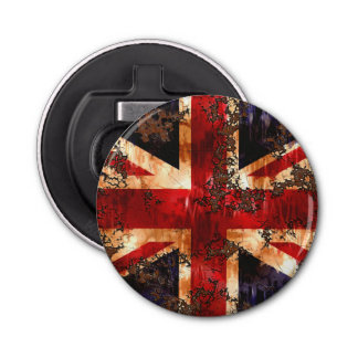 Rusted Patriotic United Kingdom Flag Bottle Opener