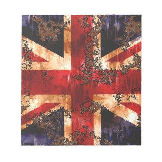Rusted Patriotic United Kingdom Flag Notepad