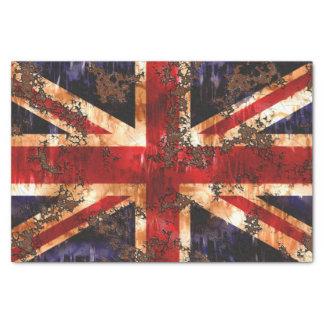 Rusted Patriotic United Kingdom Flag Tissue Paper
