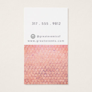 Rusted Pink and Peach Dotted Business Card