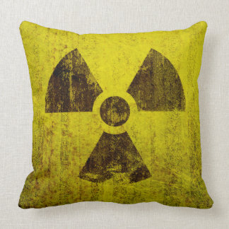Rusted Radioactive Symbol Cushion