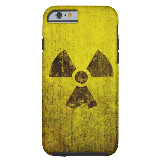 Rusted Radioactive Symbol Tough iPhone 6 Case
