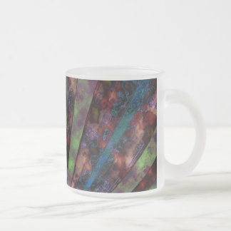 Rusted Rays Frosted Glass Mug