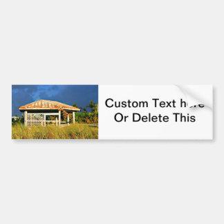 rusted roof beach dune building in Florida Bumper Sticker