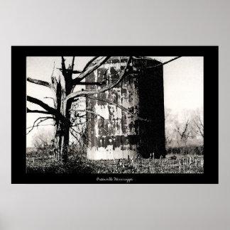Rusted Silo & Dead Tree Print